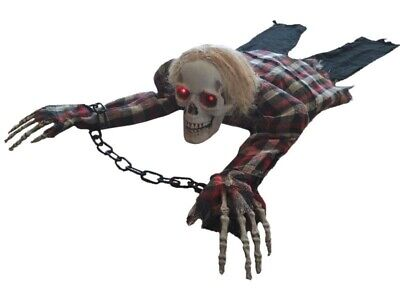 Animated Crawling Skeleton Halloween Haunted House Prop Zombie Walking Dead New