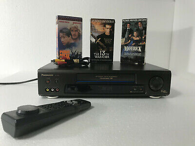 Panasonic VCR Plus Omnivision Japan 4 Head HiFi Stereo VHS with Remote Vintage