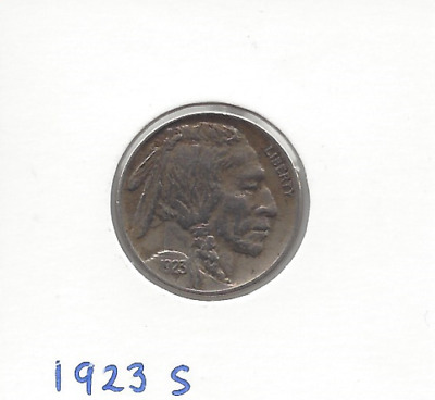 1923s USA Buffalo Nickle VF