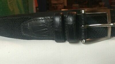 Tommy Bahama Mens Big /& Tall Braided Stretch /& Leather Belt MSRP $98.00 NEW NWT
