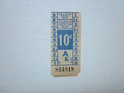 MELBOURNE & METROPOLITAN TRAMWAYS BOARD - 10d TICKET ( Pre 1966 ) - ORIGINAL