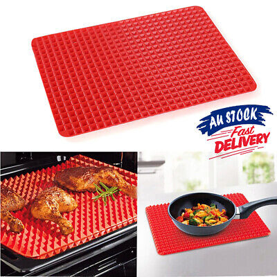 Non-stick Silicone Mould Oven Cook Pyramid Pan Liner Tray Sheet Baking Mat