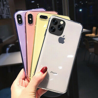 Shockproof Candy Color Clear Rubber Soft Case Cover For iPhone X XR XS Max 6 7 8
