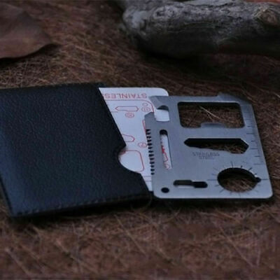 EDC 11 in 1 Credit Card Survival Knife Multifunction Multi  Camping Tool