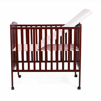 Pine Wood Baby Toddler Bed Convertible Nursery Infant Newborn Coffee