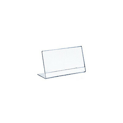Horizontal Slanted, L-Shape Acrylic Sign Holder 7W x 5H Inches - Pack of 10