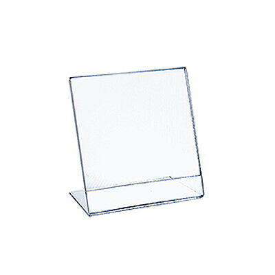Acrylic Clear L-Shaped Sign Holder 9W x 12H Inches - Count of 10
