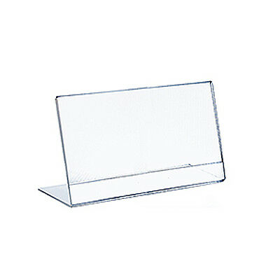Acrylic Clear L-Shaped Sign Holder 12W x 9H Inches - Pack of 10