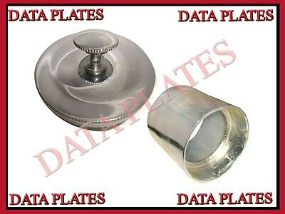 Ariel 3 Inches Chrome Plated Fuel Tank Cap & Filler Neck Square Four&Red Hunter