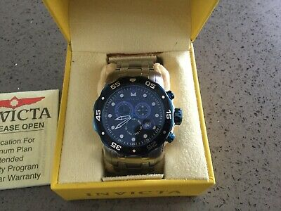 Invicta 80042 48mm Pro Diver Scuba Chronograph Blue & Black Bezel Mens Watch