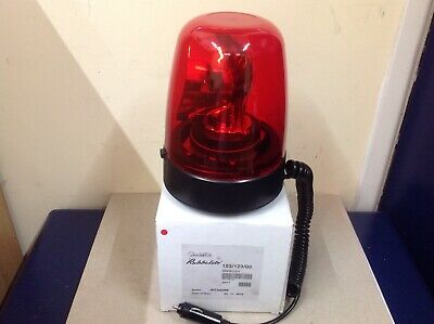 Rubbolite Magnetic Red Rotating Beacon 12/24 Volt