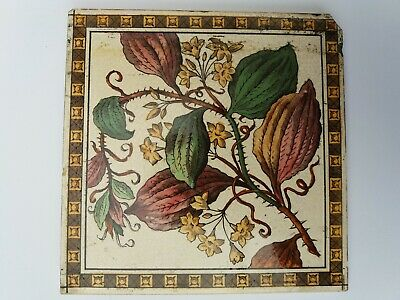 VICTORIAN TILE. PRINTED FLOWER PATTERN  1 available