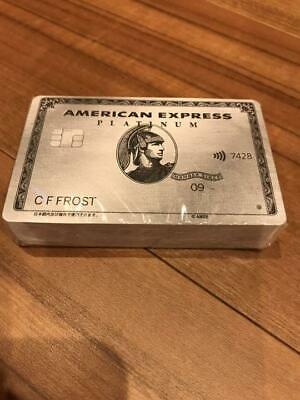 AMEX American Express Platinum card limited Playing cards Novelty Rare 100% AUTH