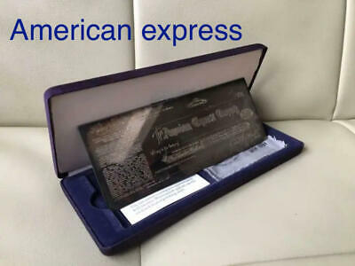 AMEX American Express Traveler's Check $ 100 Silver Plate  Rare With Case F/S