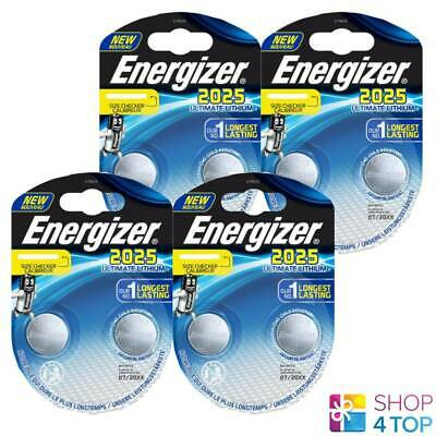 8 Energizer Cr2025 Ultimate Lithium Batteries 3V Coin Cell Dl2025 Exp 2025 New
