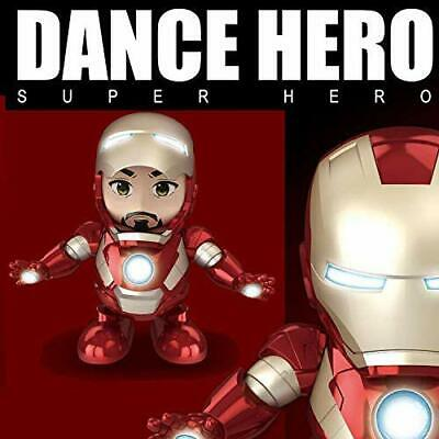 US Marvel Avengers 4 Dancing Toy Heroic Iron-Man Dancing With Music Light Gifts