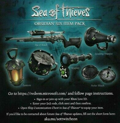 SEA OF THIEVES Obsidian Six Pack DLC CODE OBSIDIAN, XBOX OR