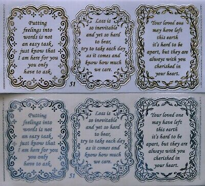 Double Embossed Clear Anniversary PEEL OFF STICKERS 3  Verses No 72