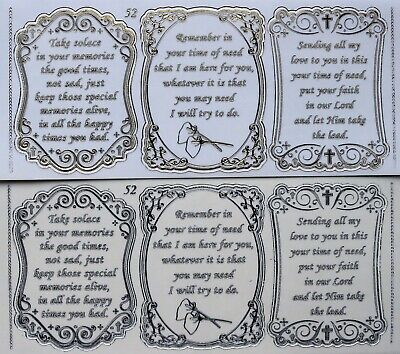 Double Embossed Clear Friend Sympathy PEEL OFF STICKERS 3  Verses No. 52