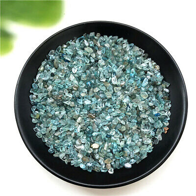 50g 2 Size Natural Blue Apatite Crystal Gravel Tumbled Polished Stone Healing E3