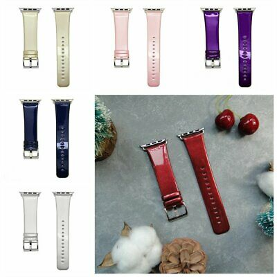 Genuine PU leather Smooth strap for apple watch band series 1/2/3 38/42mm