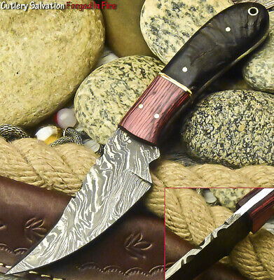 Cutlery Salvation Handmade Damascus Steel Blade  Full Tang Knife | Ram Horn