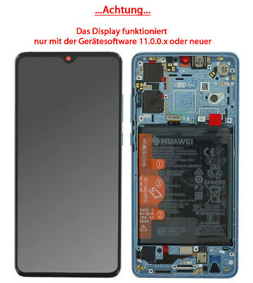 Huawei P30 OLED Display Bildschirm Touch Rahmen Akku Breathing Crystal 02352NLP