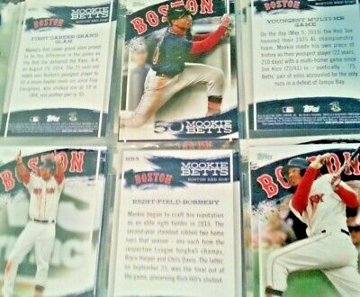 Mookie Betts Highlights 2019 Topps Series 2 Complete 30-Card Set Walmart Only