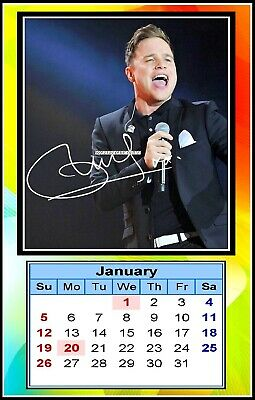 Olly Murs, 2020, Signed, MINI MAGNETIC CALENDAR. Limited Edition (OM-1)