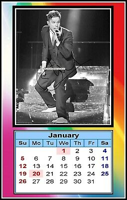 Olly Murs, 2020, Signed, MINI MAGNETIC CALENDAR. Limited Edition (OM-3)