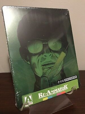 Re-Animator Steelbook (Blu-Ray Disc, 2018, Limited Edition FYE) Factory Sealed