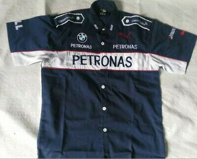 New BMW PETRONAS Embroidery EXCLUSIVE F1 team racing Short-shirt ✅24Hr SHIP OUT✅
