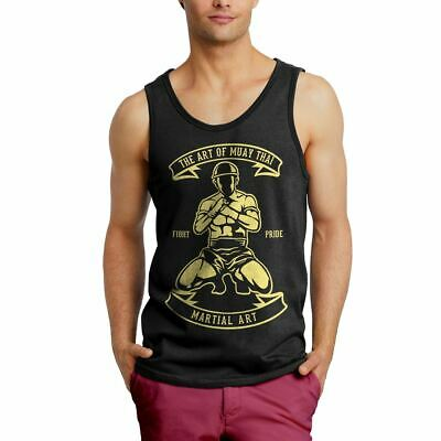 Mens Vest Art Of Muay Thai Sport Fighting Boxing Martial Work Out MMA Pride B179