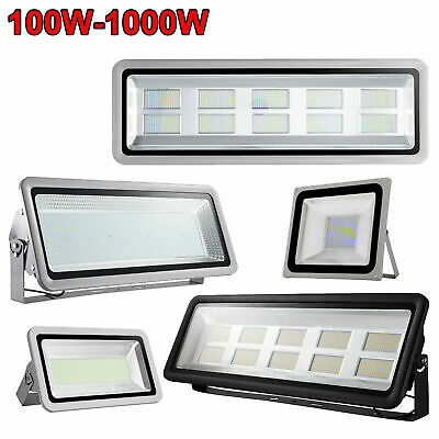 100W- 1000W LED Flood Light Cool Warm White Outdoor Yard Floodlights IP65 240V