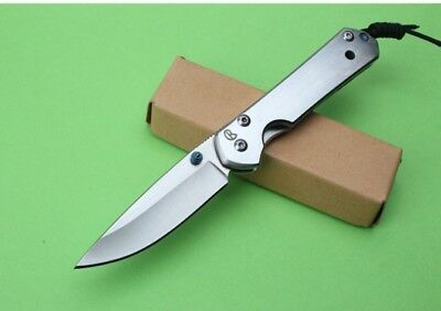 New 440 Steel Blade Sebenza21 Style All Steel Handle  Pocket Folding Knife VTF39