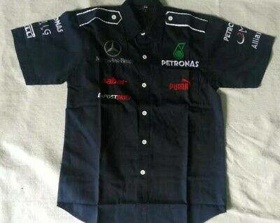 New Mercedes AMG PETRONAS Embroidery EXCLUSIVE F1 racing shirt ✅24Hr SHIP OUT✅