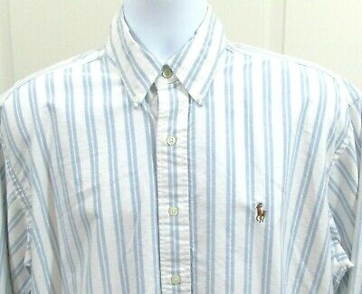 Ralph Lauren Shirt Men's Size Large Striped Blake Multi-Colored Pony