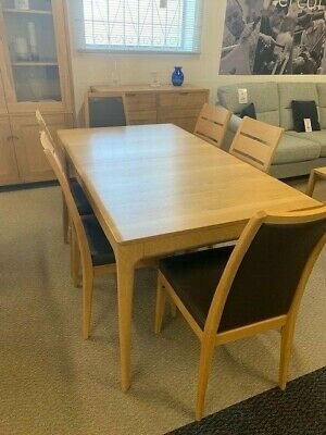 Ercol Romana Medium Extending Dining Table and 6 Chairs