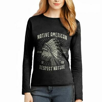 Native American Motorcycles Indian Chief Warrior Axe Wild  Womens T-Shirt A093LS