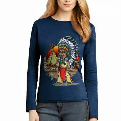 Native Chieftain Motorcycles American Indian Chief Warrior Womens T-Shirt A442LS