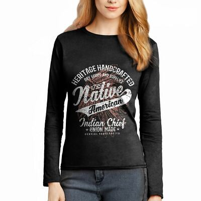 Native American Motorcycles Indian Chief Warrior Axe Wild  Womens T-Shirt A094LS