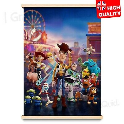 """Toy Story 4 Poster Movie Character Josh Cooley Film Print 24x36/"""" 27x40/"""" 32x48/"""""""