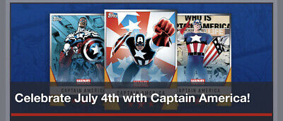 Topps Marvel Collect Card Trader Captain America July 4 Motion Fireworks Set