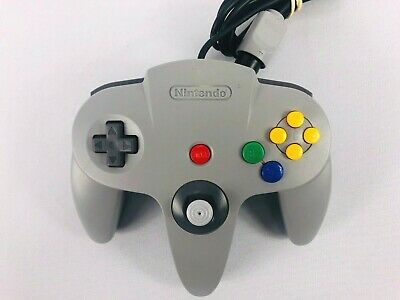 OEM Nintendo 64 N64 Grey Authentic Video Game Controller Remote Pad Official