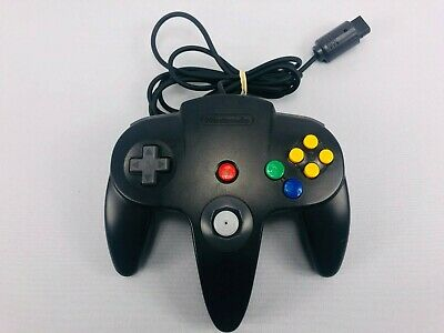 OEM Nintendo 64 N64 Black Authentic Video Game Controller Remote Pad Official