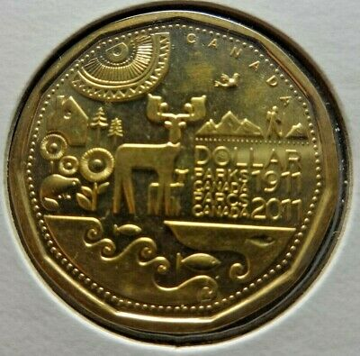 Canada 2011 1 $ One Dollar * Parks Canada * Coin  KM#495  26.5 mm