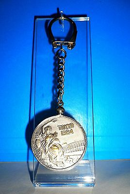 1964 Olympic Games Tokyo Old Keychain with Ancient Olympic sports Hoplitodromos