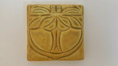Motawi Tileworks Art Nouveau Arts & Crafts Tile Yellow Tree 3.75""
