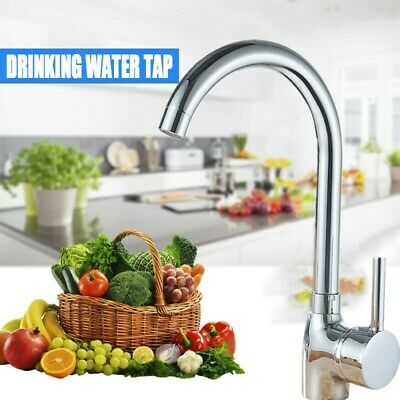 Chrome Polished Kitchen Sink Faucet Pull Down Sprayer 360° Swivel Mixer Tap SALE