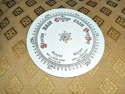 """Round Paper Aneroid Barometer Dial - 8"""" Diameter - WHITE GLOSS - Parts/Spares"""